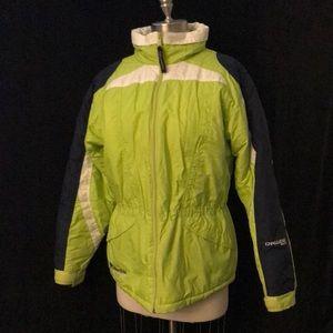 Women's Sz XXL (18-20) COLUMBIA CHALLENGE SERIES Ski Nylon Hidden Hood Jacket